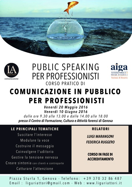Corso Public Speaking per professionisti
