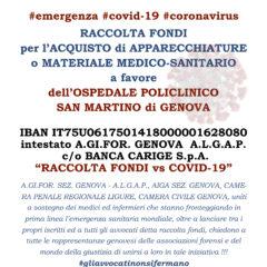 Raccolta fondi AIGA Genova per l'Ospedale Policlinico San Martino di Genova