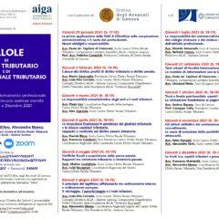 Pillole di Diritto Tributario e di Diritto Penale Tributario (piattaforma ZOOM)